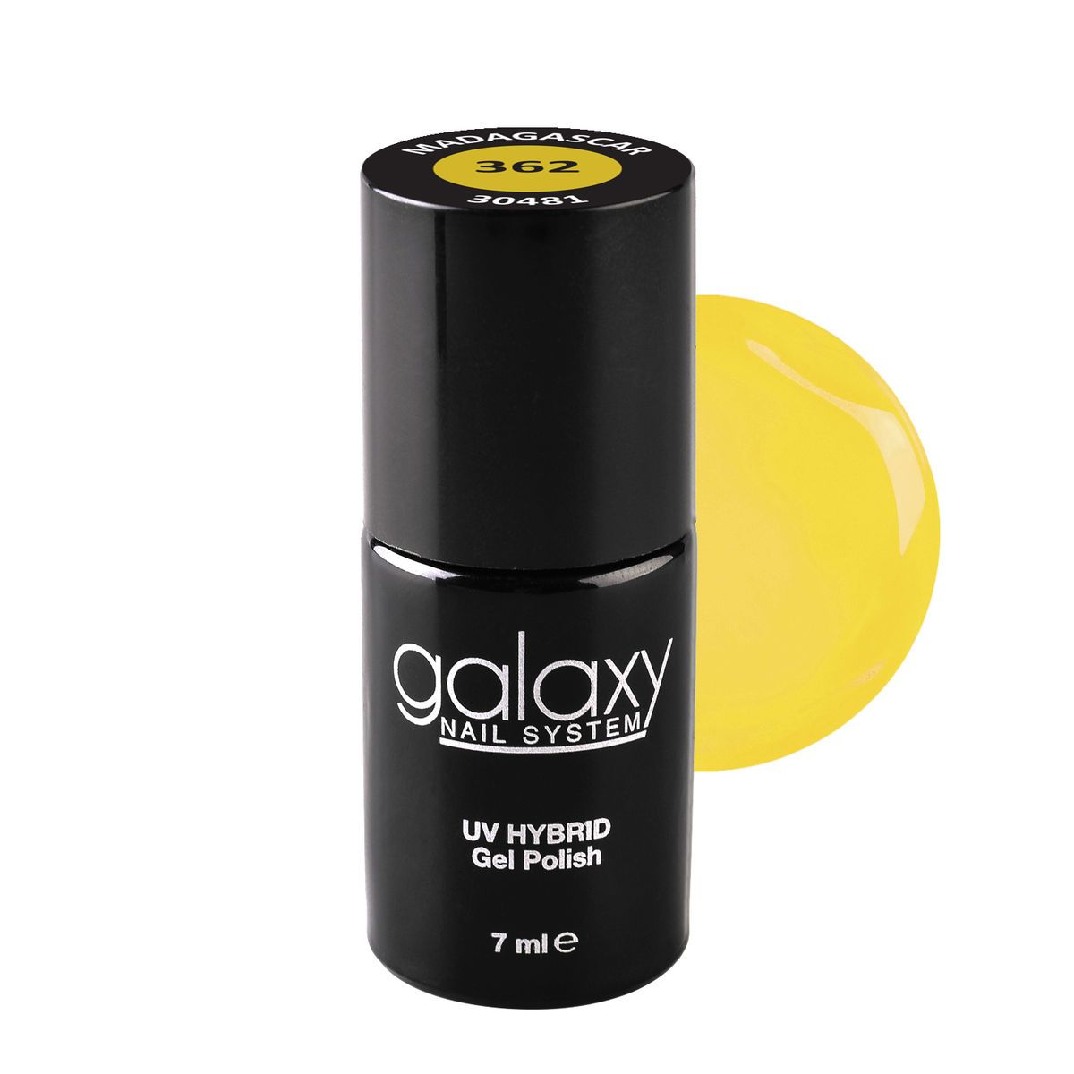 Trajni lak za nokte UV/LED GALAXY Hybrid 7ml Madagascar S362
